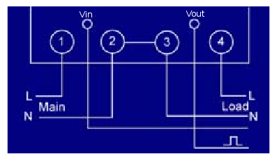 learn openenergymonitor vin is provided by an external power supply vout is the meter output created by toggling an internal solid state relay like a switch between vin and vout