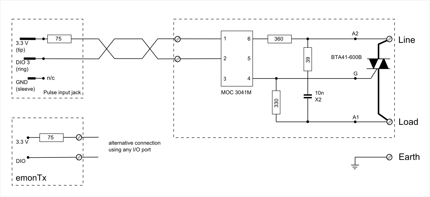Learn Openenergymonitor Monitor Power Control Wiring Diagram Output Stage Circuit Emontx V2